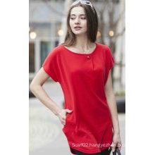 Ladies′ Cashmere Sweater Short Sleeve (1500002089)