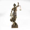 Statue en bronze de statue de Lady Justice en métal