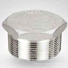 Кованая резьбовая шестигранная заглушка из нержавеющей стали