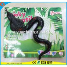 Brinquedo pegajoso da serpente macia do brinquedo engraçado do divertimento engraçado