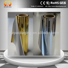 Gold or silver Metallized Pet film / Thermal Film For paperboard