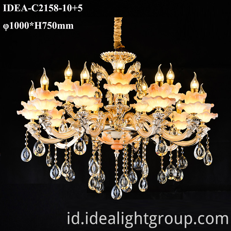 crystal candle pendant lights