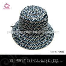 Ladies Short Brim Stroh Cloche Hut dunkel Farbe für den Sommer