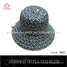 Ladies Short Brim Straw Cloche sombrero de color oscuro para el verano
