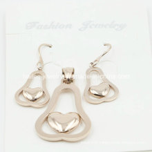 Fashion Stainless Steel Pendant and Earring Set Jewelry