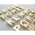Conception de pendentifs en alphabet en acier inoxydable