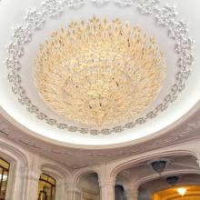 Luz de teto led em globo dourado para corredor de hotel