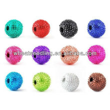 Cheap wholesale mixed color 8mm Clay Alloy Shamballa Beads