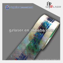 Holograma adhesivo fabricante de cinta bopp