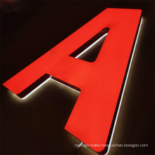 Custom  company names Advertising 3D LED Lights Acrylic Led Letter Sign Electrical Lettering Sign