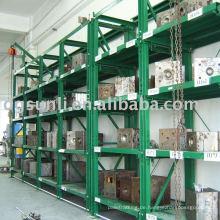 Halboffenes Form-Shelf aus Stahl