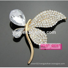 hot sale charming butterfly crystal brooch