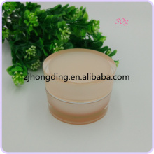 2016 hongding body acrylic flat tapered jars skin and hand cream jar plastic rectangular containers