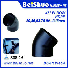 HDPE 45 Deg Elbow Black HDPE Pipe