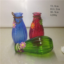 Glass Vase with Feather Flower