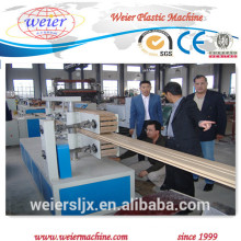 piso del decking de WPC perfiles madera plástico fabricación de la máquina