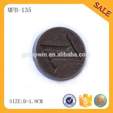 MFB135 Botões de costura feitos à medida botões de haste de metal para vestuário