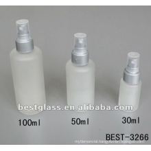 30/50/100ml/150ml frost lotion glass bottle with plastic srayer and cap