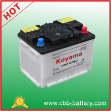 Batterie sèche de voiture chargée par batterie de véhicule de 12V 55ah DIN55559