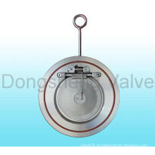 Válvula de retenção Swing de disco único com mola