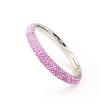 Nova elegante fábrica de alta qualidade pulseiras de cristal rosa, pulseiras de cristal mulheres