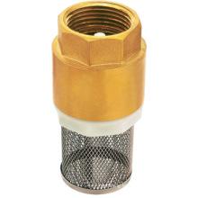 Válvula de retención de muelle de latón forjado estándar CUPC con filtro de SS