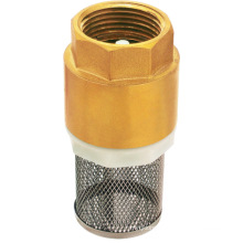 Forged Brass spring strainer check valve