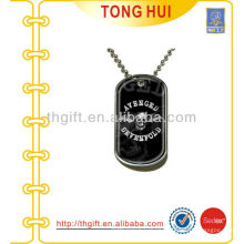 Flying skull dog tag necklace manufacturer jewelry