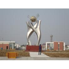 Art moderne en acier inoxydable Sculpture abstraite pour décoration extérieureModernes en acier inoxydable Sculpture abstraite pour extérieur