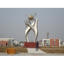 Modern Stainless Steel Arts Abstract Sculpture For Outdoor DecorationModern Stainless Steel Arts Abstract Sculpture For Outdoor