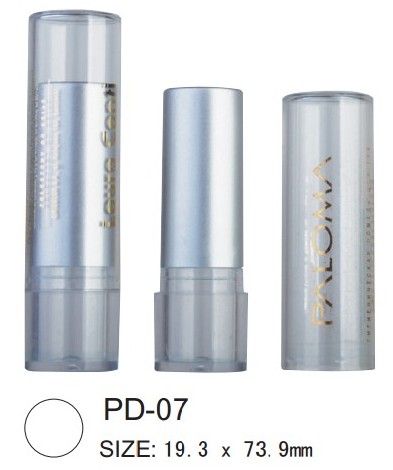 Plastic round lipstick case