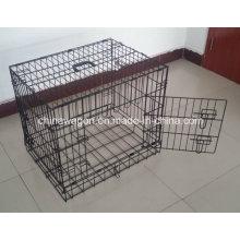 Cage de voyage de chiot de caisse en métal de double porte