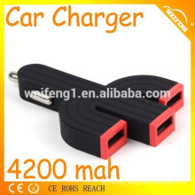 Lastest Design Universal 3 usb car charger