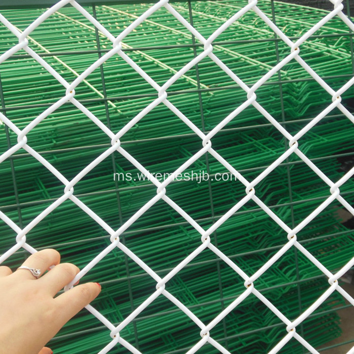 Coulor Vinyl Coated Chain Link Fence Fabric