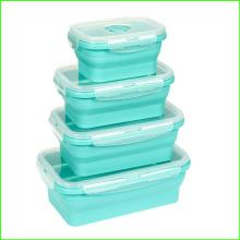 100% Lebensmittelqualität Silikon Mittagessen Bento Box
