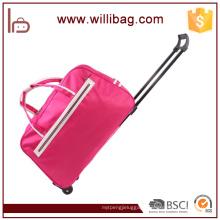 Durable Travel Bag Trolley Nylon Travel Bag With Wheels