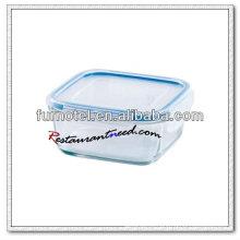 Recipiente de comida de vidro quadrado D218