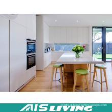 Mobiliário de armários de cozinha de PVC branco de estilo europeu (AIS-K051)