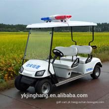 Carro de golfe da polícia de 4 assentos com motor 3KW e preço apropriado para venda