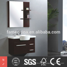 Armário de banheiro de madeira maciça gabinete de banheiro de madeira maciça de estilo moderno