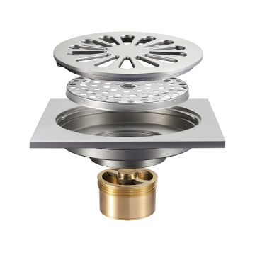 HIDEEP Fittings Antique Brushed Full Copper Floor Drain