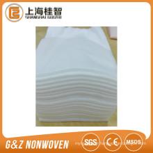 Lingettes nettoyantes jetables en viscose / polyester