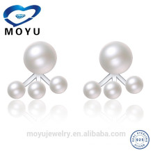 Fashion Freshwater Big pearl Double Sided pearl earring