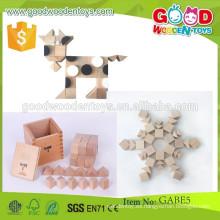 Sigue vendiendo niños aprendiendo juguetes cubos y prismas triangulares OEM gabe juguetes creativos