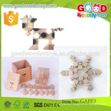 continued selling kids learning toys cubes & triangular prisms OEM gabe creative toys