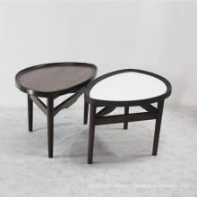 Solid Wood with Tempered Glass Top Fancy Style Tea Table