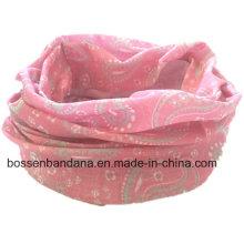 Design feito sob encomenda Proteção UV impressa para fora da porta Esportes Pink Elastic Multifuncional Buff Headwear
