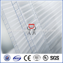 10mm opal 3-wall rectangle-structure polycarbonate hollow sheet