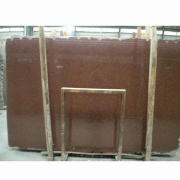 Granite slab, Indian red with polished surface