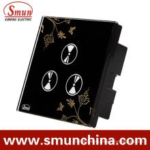Interruptor táctil de 3 teclas para interruptores de control remoto inteligentes de pared y hogar